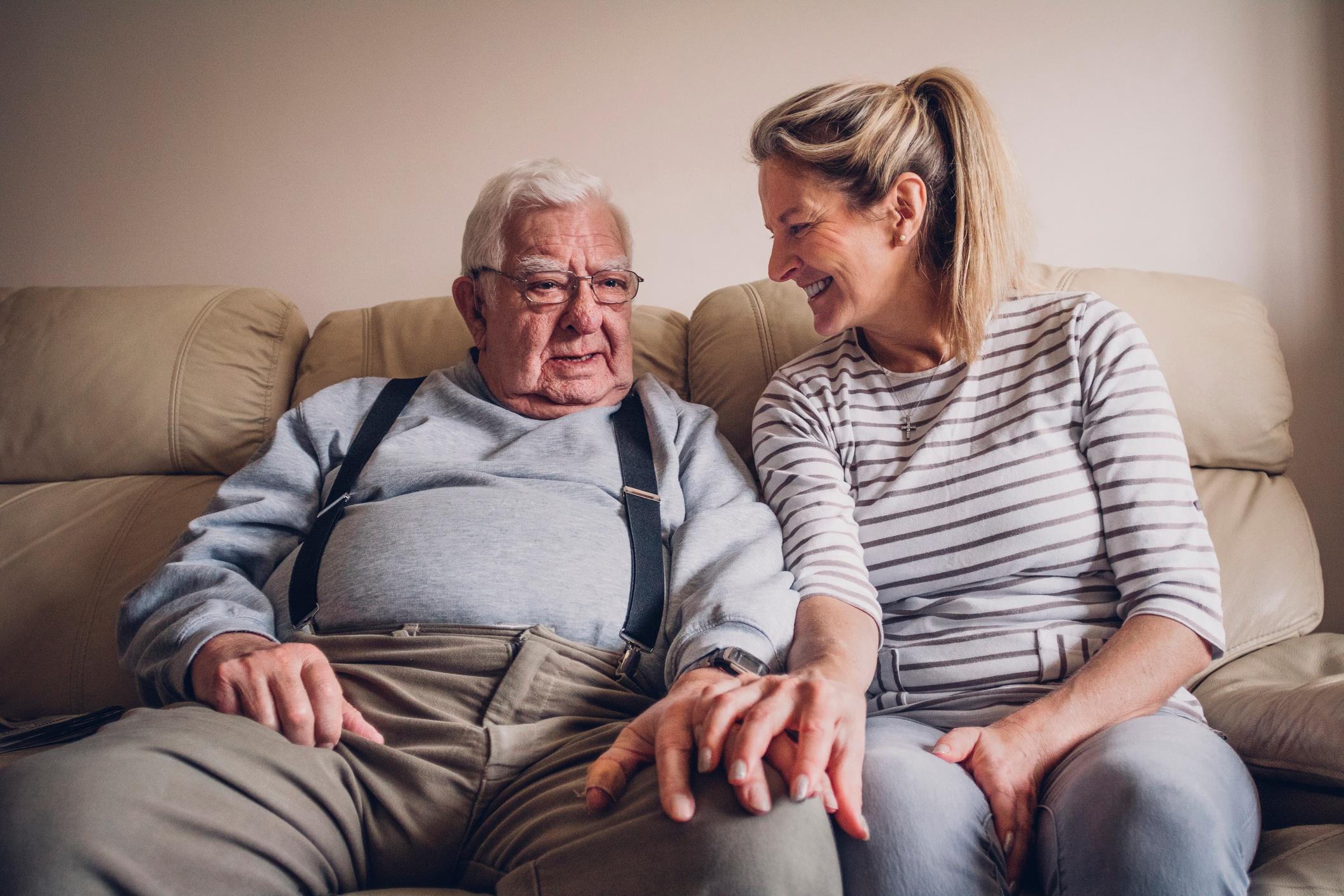talking to elderly parent